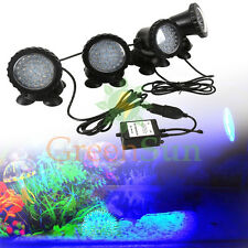 4PCS LED RGB Aquarium Submersible Lumière de lampe Pond Spotlight