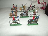 Alte Zinnsoldaten auf Pferd (8 Stück)