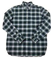 RALPH LAUREN Men's Size LARGE L Plaid Button Down Shirt 100% Cotton EUC