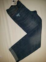 Modern Slim Cuffed Denizen Levi Jeans for Ladies | Size 2 | W26