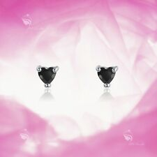 925 Silver Earrings Made With Swarovski Crystal Heart Stud Kids Baby Jewellery