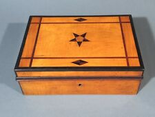 Antique French Wooden Box, Hand Made, Marquetry