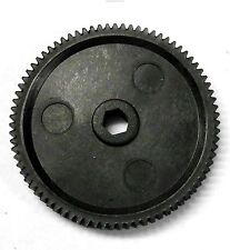 BS709-032 1/10 Scale Spur Gear Plastic Black BSD 0.6m Pitch 78T 78 Teeth Tooth
