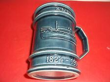 Vintage Holkham Pottery Mug   RNLI  1824  -  1974