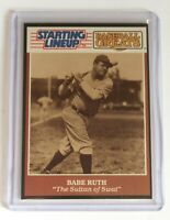 """1989 Kenner Starting Lineup Baseball Greats Card Babe Ruth """"The Sultan of Swat"""""""