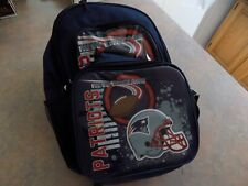 New England Patriots Football Backpack & Lunchbox Official NFL New with Tags