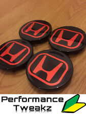 NOUVEAU NOIR BRILLANT HONDA CIVIC TYPE R EP3 Wheel Centre Caps DC5 FN2 FD2 EP2 Alloys