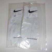 2 Lot Nike TOUR CLASSIC 2 Promo RIGHT HAND Golf Gloves PGG049 101 MEDIUM