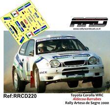 DECAL/CALCA 1/43; Toyota Corolla WRC; Aldecoa-Barrabes; Rally Artesa de Segre 00
