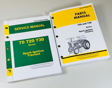 Service Parts Manual Set For John Deere 720 730 Spark Ignition Gas Tractor Books