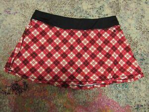 QUEENIEKE Women's RED/BLACK/WHITE Tennis Skirt/Skort - Size Large