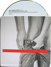 NEW ORDER CD Crystal 1 Track UK PROMO Card Sleeve w/ Release Date Sticker Rare