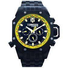 Technosport TS-100-10AV Men's World Timer GMT Swiss Chrono Black Watch