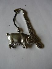 Pig codeppa12 Made From Fine English Pewter On A DOLPHIN Bookmark