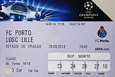 Ticket - FC Porto - LOSC Lille - Champions Play off - 2014/15