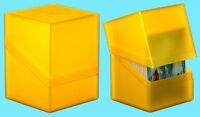 ULTIMATE GUARD BOULDER AMBER Standard Size DECK CASE 100+ NEW Card Storage Box