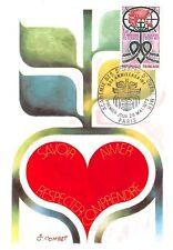 Card Maximum FDC France Academy of Sciences Outre Sea 1973 Paris