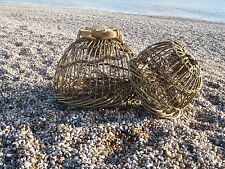Traditional willow crab / lobster pot (withy pot) / wicker pot