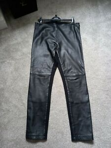 M&S  Autograph~ Leather fronted ponte Skinny leggings ~ size 14 was £120 ☆