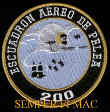 SQUADRON 200 PATCH MEXICAN AIR FORCE MEXICO GHOST PILOT CREW WING FUERZA AEREA