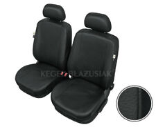 Tailored Black Car Seat Covers Front Seats Eco Leather For FORD FOCUS 2010 - ON