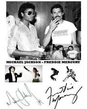Reprint - Michael Jackson - Freddie Mercury Autographed Signed 8 x 10 Photo