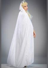 Womens Snow Queen Long White Velvet Cape
