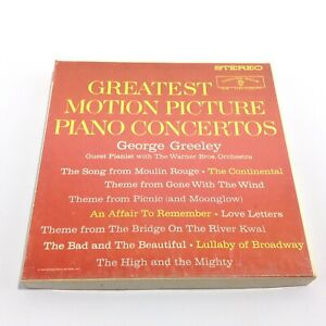 GEORGE GREELEY Motion Picture Piano Concertos REEL TO REEL TAPE WST-1319 WB EUC