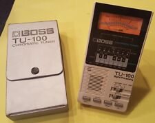 Rare! Boss TU-100 Chromatic Tuner w/ Stand & Case ~ Tested & Works