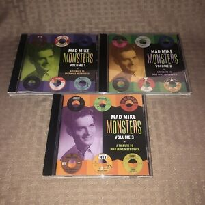 MINT COND 50'S 60'S Garage Mad Mike Monster Volume 1, 2, 3 Garege Rock doo-Wop