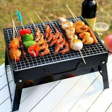 Outdoor Bbq Barbecue Grill Fold Portable Charcoal Stove Camping Cooking Garden