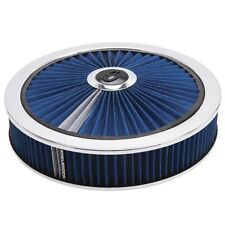 """Edelbrock 43661 PRO-FLO Air Cleaner 14"""" Round, with Breathable Lid Blue"""