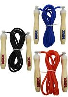 Jumping Rope PVC Skipping Fitness Exercise Workout MRX 9 Feet Long Wooden Handle