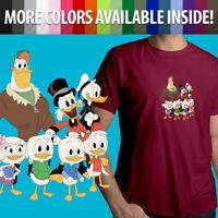 Unisex Mens Tee Crew T-Shirt Disney Scrooge McDuck DuckTales Huey Dewey Louie