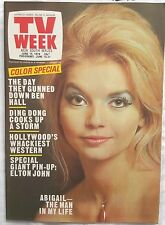 TV Week,1974 Jun 15,ABIGAIL Cover,Number 96,The BOX,Elton John P/u,Bellbird,N/M