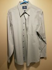Stafford Wrinkle Free Mens Button Down Dress Shirt Gray 16 34/35