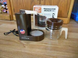 Vintage Coffee Maker Hamilton Beach Mini Drip Scovill 4 Cup 784 Brown U.S.A.