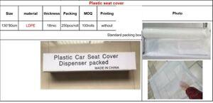 Disposable Plastic Seat Covers 200pc 130 x 80cm