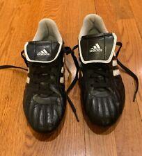 Adidas Traxion Firm Ground Soccer Cleats Black/Silver Men/Boys Sz 6