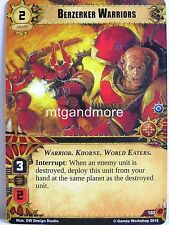 Warhammer 40000 Conquest LCG - Berzerker Warriors  #103 - Wrath of the Crusaders