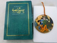 1996 Disney Classics Collection Pluto's Christmas Tree Porcelain Ornament NIB