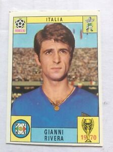 Original Panini Mexico 70 World Cup red black  back  - Gianni Rivera Italy