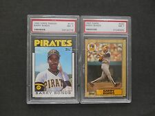1986 1987 Topps Traded #11T #320 Barry Bonds Rookie Card Lot 2 PSA GRADED NM WOW