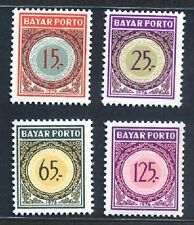 Indonesia 1976 Postage Due Stamps (4v, Cpt) MNH