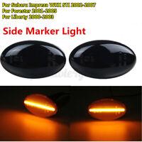 2x LED Fender Side Light Turn Signal Marker For Subaru Impreza WRX STI Forester