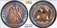1859 XF DETAILS SEATED LIBERTY HALF DOLLAR/ WB-101/ PCGS SECURE/HARD COIN.