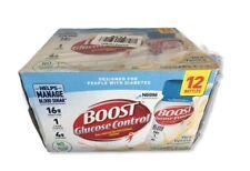 BOOST Glucose Control Vanilla, 8 fl oz, 12 bottles Exp. Feb 2021