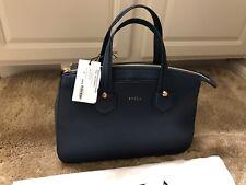 NWT Furla Giada satchel Handbag shoulder bag Blue Blu Ginepro