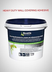 Bostik Wallpaper Paste Adhesive Ready Mixed Extra Strong Glue Wallcovering 5kg