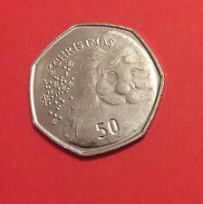 New 50P Christmas Coin Gibraltar 2015 UNC Fifty Pence Rare